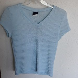 Rue 21 baby blue blouse, stretchy and comfy